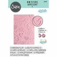 Sizzix 3D Texture Fades: Hearts  -kohokuviointikansio