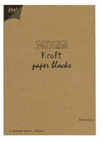 Joy Crafts: Mixed Kraft Paper Block A5 - kartonkipakkaus