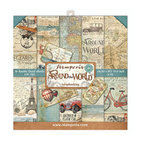 Stamperia: Around The World 8x8 - paperikokoelma