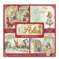 Stamperia: Alice Maxi Pad 12 x 12 paperikokoelma