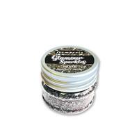 Stamperia Glamour Sparkles 40g : Silver - glittermurske
