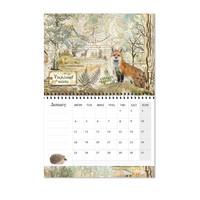 Stamperia Calendar 2021: Forest - seinäkalenteri