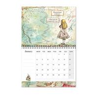 Stamperia Calendar 2021: Alice - seinäkalenteri
