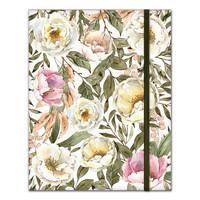 P13: Bujo/ Art Journal Notebook:  Flowers - muistikirja