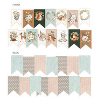 P13: Forest Tea Party Die Cut Garland -koristepakkaus