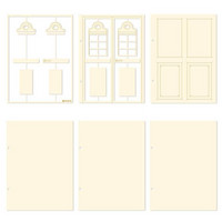 P13 Light Chipboard Album Base Door  - albumipakkaus