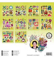 Art by Marlene Die Cut Block - Paper Elements Lime  20 x 20 cm  - leikekuvalehtiö