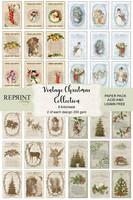 Reprint: Vintage Christmas Collection A4 - korttikuvakokoelma