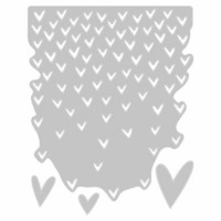 Sizzix Thinlits: Falling Hearts  -stanssisetti