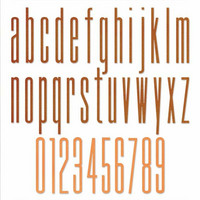 Sizzix Thinlits: Alphanumeric Stretch Lower & Numbers  -stanssisetti