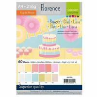 Florence: Pastel Smooth A4 -kartonkipakkaus