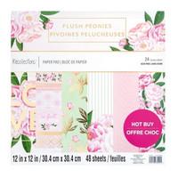 Recollections: Blush Peonies 12x12 - paperilehtiö