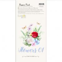 Lemoncraft: Flowers #1  Elements for Fussy Cutting 6x12 -paperilehtiö