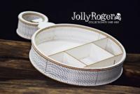 SnipArt: Jolly Roger - Pocket Watch Shadowbox 3D - leikekuviopakkaus