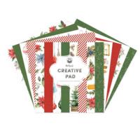 P13: Creative Pad - Cozy Winter/ Red & Green 12x12 - paperikokoelma