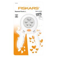 Fiskars Squeeze Punch L: Heart Confetti - lävistäjä