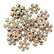 Wooden Glitter Shapes: Snowflake Gold - puukoristeet