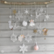 Wooden Glitter Shapes: Snowflake Silver - puukoristeet