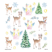 DP Craft Glitter Stickers : Deers & Angels  -tarra-arkki