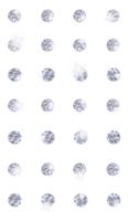 DP Craft Adhesive Stones 8 mm :  Silver