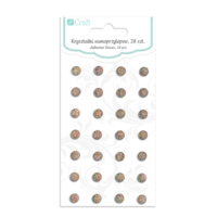 DP Craft Adhesive Stones :  Anthracite 8mm