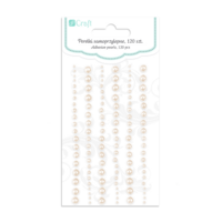 DP Craft Adhesive Pearls : Mixed Opalescent Ivory