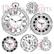 13arts: Clocks 6 x 6 -sabluuna
