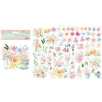 Stamperia: Colors of Love Flowers Die Cuts -pahvileikekuviot