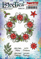 Paperartsy:  Kay Carley Christmas Wreath Ezmount A5 - leimasinsetti