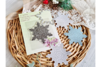 Agiart: Crystal Snowflake  -stanssi- ja leimasinsetti