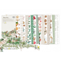 Lemoncraft: Natural Christmas Elements for Fussy Cutting 6x12 -paperilehtiö
