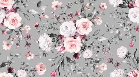 My flowery day, vaaleanharmaa, joustocollege
