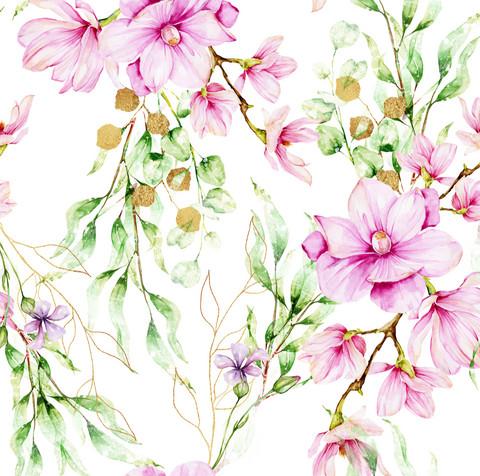 Magnoliat, white, trikoo