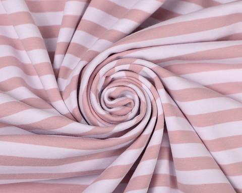 Nude-valkoiset elastaanilliset raidat, trikoo * Käyttöleveys 180 cm*