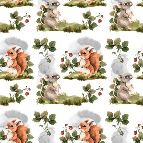 Metsän eläimet, green-grey, trikoo
