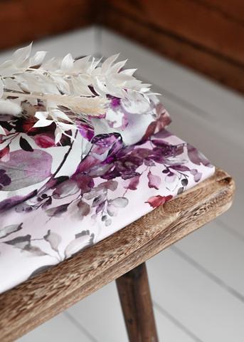 Flowers & leaves, light pink, trikoo
