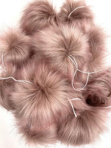 Muhkea keinokarvatupsu 15 cm, vanha roosa