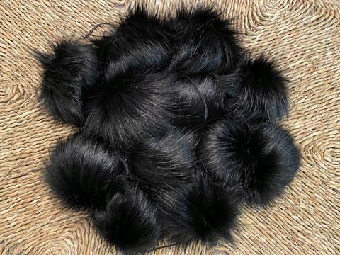 Muhkea keinokarvatupsu 15 cm, musta