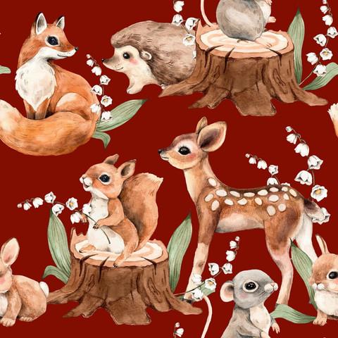 Jouluisat Metsän eläimet, trikoo