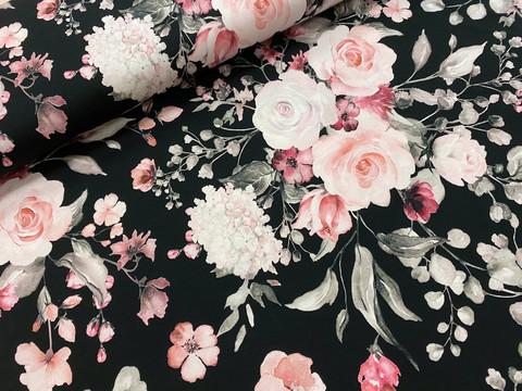 My flowery day, black, trikoo