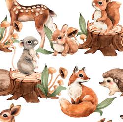 Metsän eläimet, original, trikoo