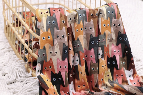Viimeinen PALA n. 100 cm: Colorful cats, trikoo