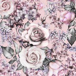 Pastel flowers, trikoo