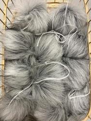 Muhkea keinokarvatupsu 10 cm, cool grey