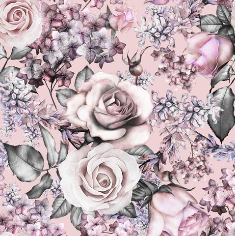 Pastel flowers, joustocollege