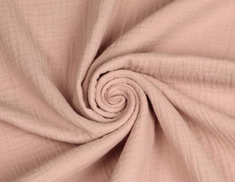 Double gauze/harsokangas, vaalea roosa