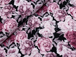 Watercolor peonies, old rose, softshell