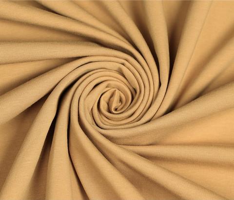 Trikoo, kullanruskea - mätsää kullanruskeaan Leo-kuosiin - *Käyttöleveys n. 180 cm*