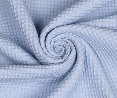 Pieniruutuinen vohvelikangas, baby blue