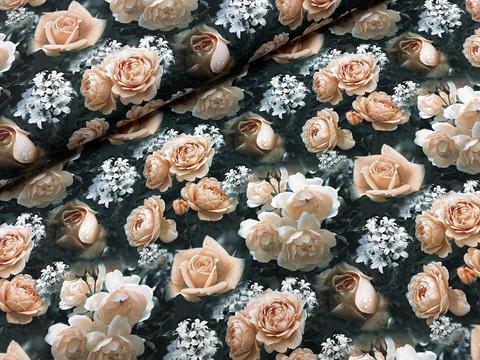 Elegant roses, peach, trikoo